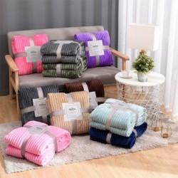 Gewatteerde / flanellen deken - warm - super zacht