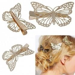 Haarclip met gouden vlinder