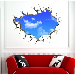 3D Blue Sky Wall Ceiling Sticker 50*70 cm.