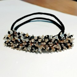 Crystal headband - hair decoration - with pearls / crystals