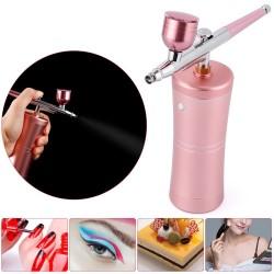 Mini luchtcompressor - spuitpistool - airbrush - kit voor nail art / make-up / taarten versieren