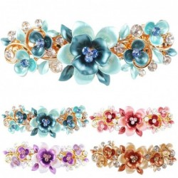 Crystal hair clip with butterflies / flowers