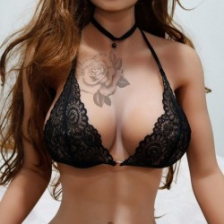 Sexy lace bra - wirefree - with front closure