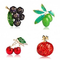 Colorful fruits shape - crystal brooch
