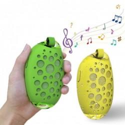 MG X1 - wireless Bluetooth speaker - with microphone / hook - waterproof - hands free call - mango shape
