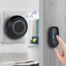 KERUI M523 - wireless doorbell kit - LED - waterproof - with touch button / 32 songs
