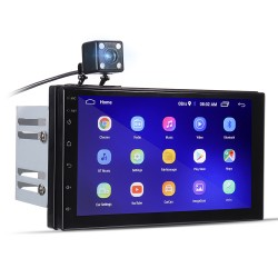 Android 8 - DIN-2 car radio - 7'' touch screen - GPS - Bluetooth - FM - WIFI -MP3 - Mirrorlink
