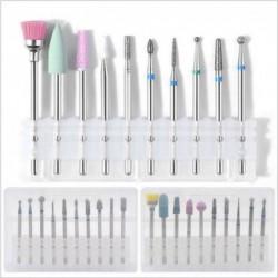 Keramische boortjes - kegelpunten - voor elektrische manicure/pedicure machine - 10 stuks