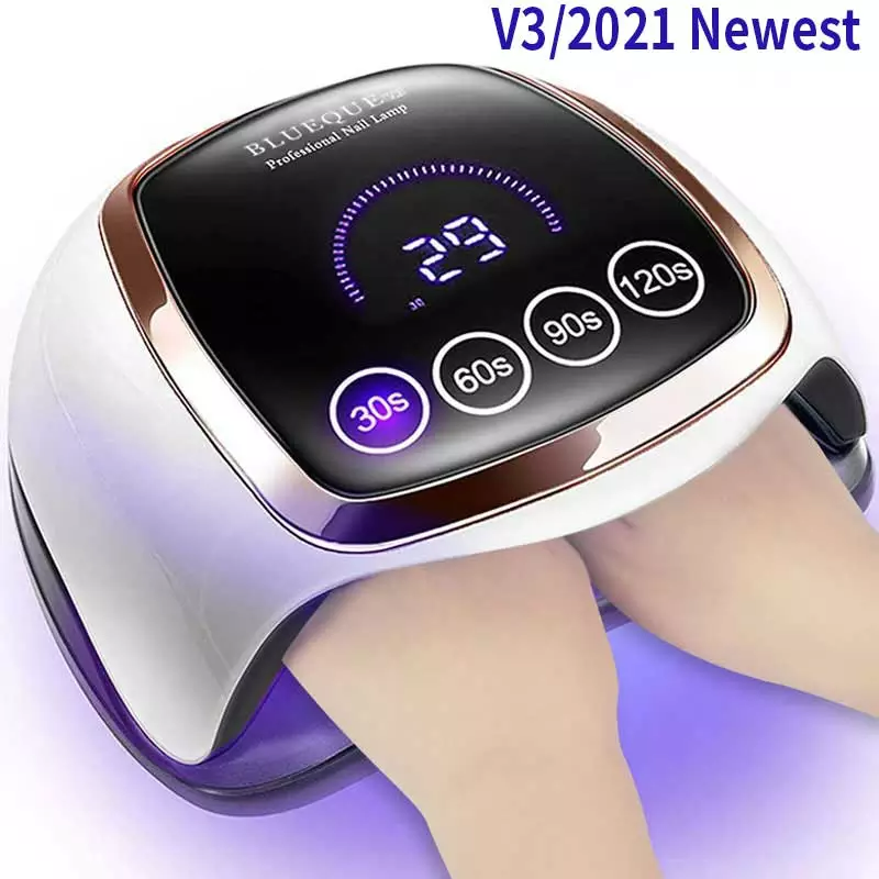 Professional nail dryer - with memory function - UV / LED lamp - LCD