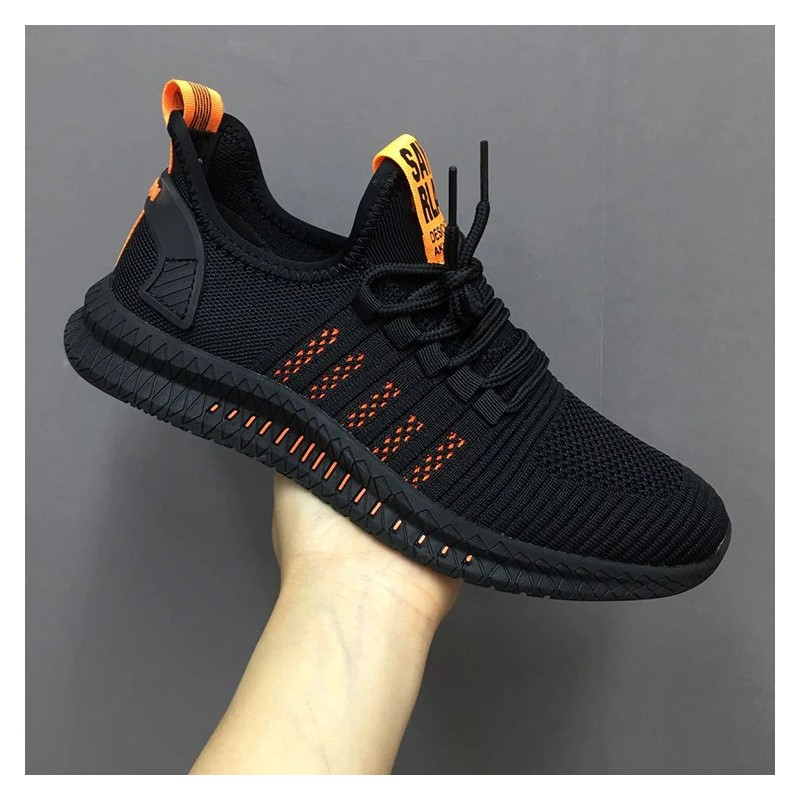 Fashionable sports mesh sneakers - lightweight - lace-up