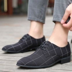 Classic pointed toe shoe shoes - laced-up - black lattice