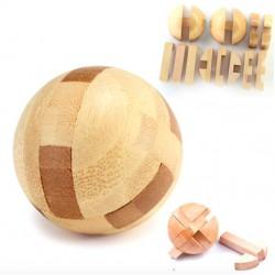 Houten bal - vergrendelpuzzel - educatief ontgrendelspeelgoed