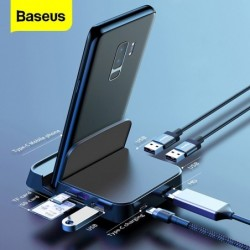 Baseus - docking station - oplader met standaard - type-C HUB naar HDMI - voor Samsung S20 S10 / Huawei P30