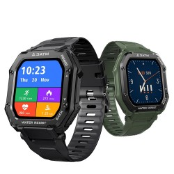 KOSPET ROCK - Smart Watch - Bluetooth - Android / IOS - waterdicht - fitnesstracker - bloeddrukmeter