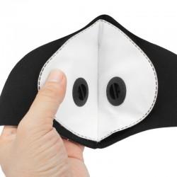 PM25 - beschermend mond- / gezichtsmasker - dubbele luchtklep - antibacterieel / anti-vervuiling