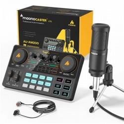 LITE AM200-S1 - alles-in-een microfoon - mixer kit - audio interface - met condensator microfoon / koptelefoon