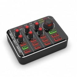 Microfoonmixer - podcaster - digitaal - 12 geluid audio-effect