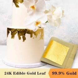 24-karaats bladgoud - bladerdeeg - eetbaar - voor taart-/voedseldecoratie
