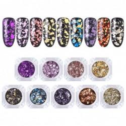 Nail art glitter - kameleon / pailletten / gemengde kleuren vlokken