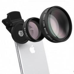 Telefonkameraobjektiv - 0,45X Weitwinkel / 10X Makro - Clip-on - Kit