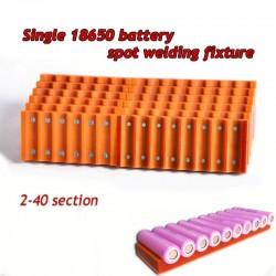 18650 batterij armatuur - enkele rij - sterke magneet - voor batterijen puntlas armatuur