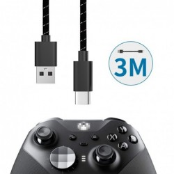 Snellaadkabel - datatransmissie - USB type-C - voor Xbox One Elite 2 / NS Switch Pro - 3M