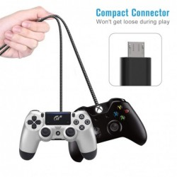 Snellaadkabel - data / sync - micro USB / Type-C / ISO - voor PS4 / Xbox One Controller - 3m