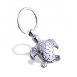 Modieuze metalen sleutelhanger met schildpad
