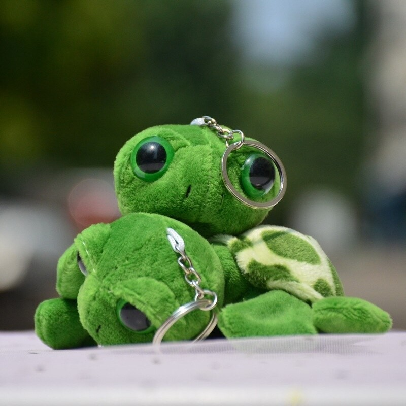 Keychain with a plush sea turtle - 2 pieces