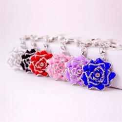Luxurious crystal rose - keychain