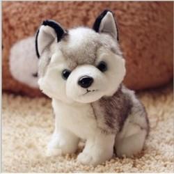 Husky hond - knuffel - 18cm