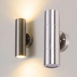 LED wandlamp - RVS lamp - up / down verlichting