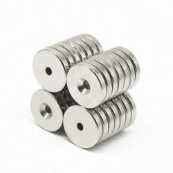 N35 - neodymium magneet - rond verzonken - 50 * 5mm - met 6mm gat
