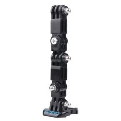 Winddichte koffer - helmbevestiging - gesp - adapter - draaiarm - voor GoPro Hero 9/8/7/6/5 Black
