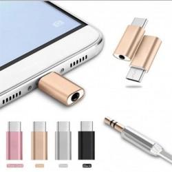 Micro USB Type-C naar 3,5 mm koptelefoonaansluiting - adapter - splitter