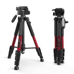 Z666 - professioneel aluminium camerastatief - draagbaar - met Pan head - voor Canon DSLR camera