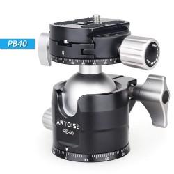 PB40 - statief balhoofd - dubbel panoramisch - laag profiel - 360 graden draaibaar - voor DSLR camera's