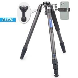 AS80C - carbon statief - professionele camerahouder / adapter