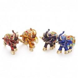Kleurrijke kristallen olifant - sleutelhanger