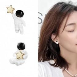 Astronauten mit Stern - asymmetrische Ohrringe - Anhänger für Halskette