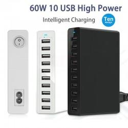 Meerdere poorten USB-oplader - snel opladen - 5 / 6 / 10 poorten - 60W