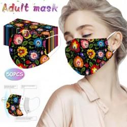 Gezichts-/mondbeschermingsmasker - wegwerp - voor volwassenen - bloemenprint