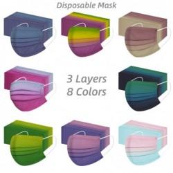 Gezichts-/mondbeschermingsmasker - wegwerp - voor volwassenen - tie-dye print - 50 stuks