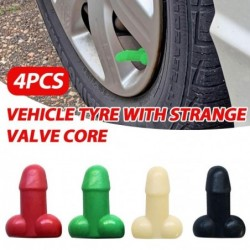 Universal tire valves - luminous - for cars / bicycles / motorcycles - penis shaped - 4 pieces
