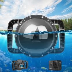 Duikkoepelpoort - dual-handheld - waterdichte lensdop - voor GoPro Hero 8 Black - 6 inch