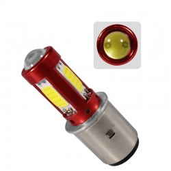 Motorcycle light bulb - LED BA20D H6 - Hi/Lo Beam - 12V-80V