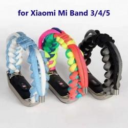 Braided fabric bracelet - for Xiaomi Mi Band 3 / 4 / 5 / 6