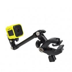 Klemklembevestiging - selfiestick - flexibele kaak - voor GoPro Hero 8 9 10 Xiaomi YI 4K SJ4000 SJ5000 SJ6000
