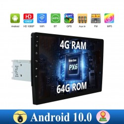Android 10 - Autoradio mit Touchscreen - 1 din - 2 din - WiFi - GPS - Bluetooth - FM - AM - RDS - SWC - DSP - 4G RAM 64G ROM