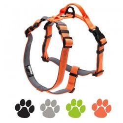 Dog harness - reflective nylon - adjustable